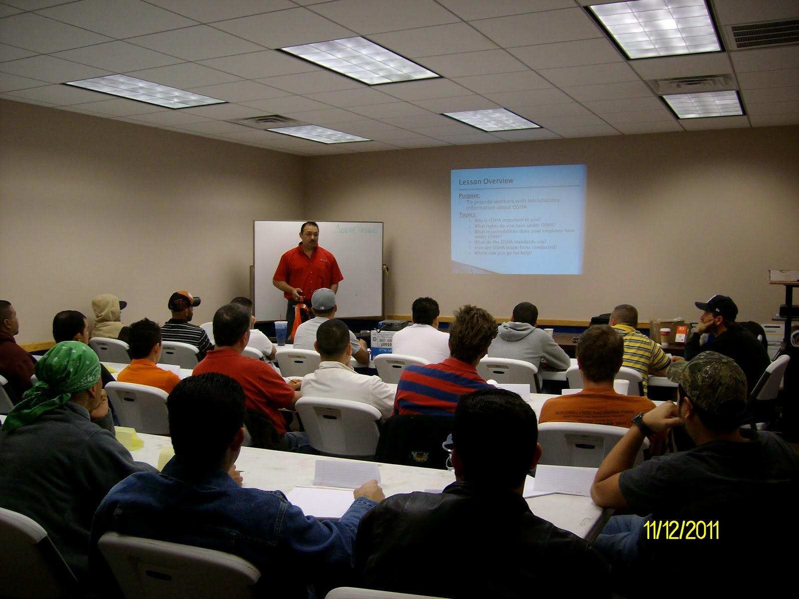 Osha 10 Training Class Marek